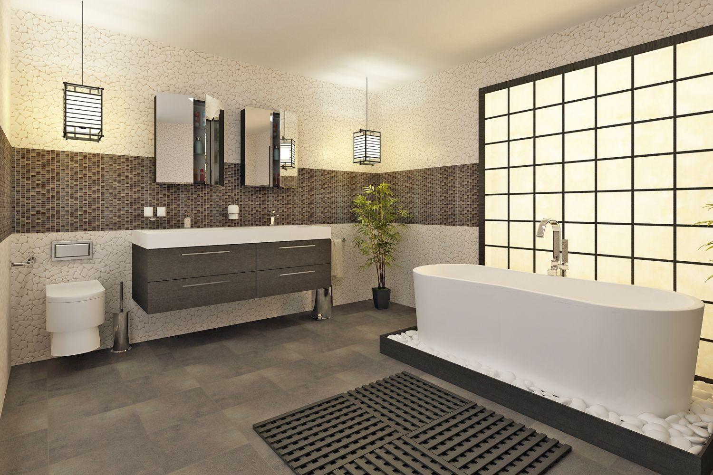 Salle de bain moderne en bois tr s nature meuble et for Salle de bain de luxe moderne