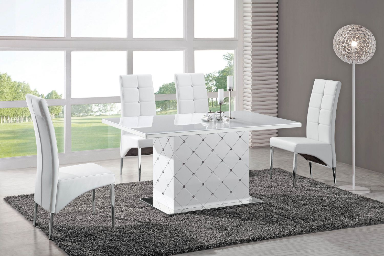 Salle manger meubl et design blanc meuble et d coration marseille mobi - Table salle a manger blanche design ...