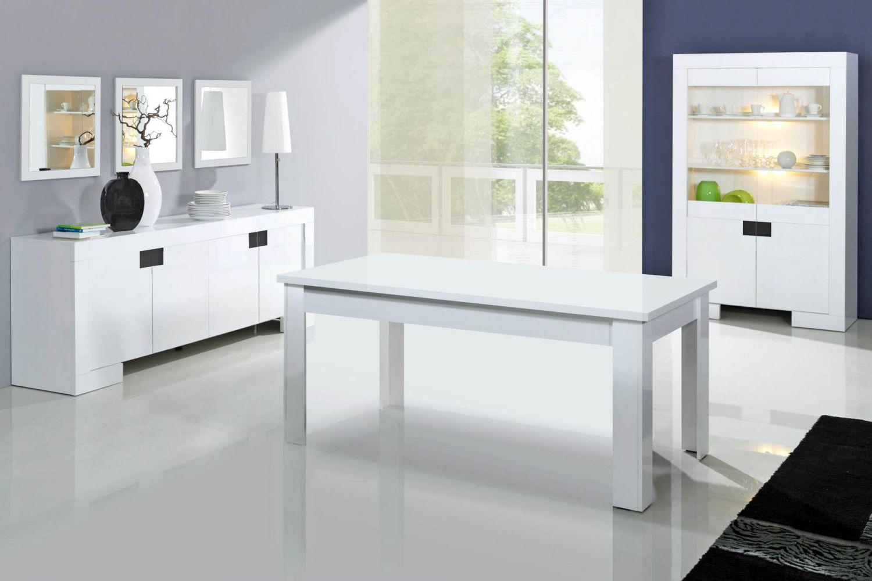 Salle manger meubl et design blanc meuble et for Mobilier salle a manger contemporain