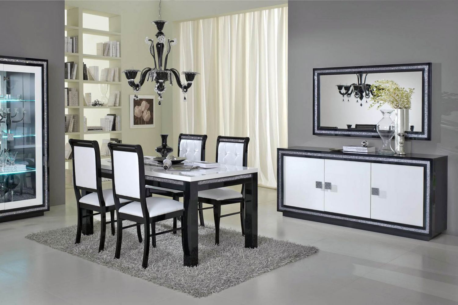 salle manger meubl et design blanc meuble et d coration marseille mobilier design. Black Bedroom Furniture Sets. Home Design Ideas