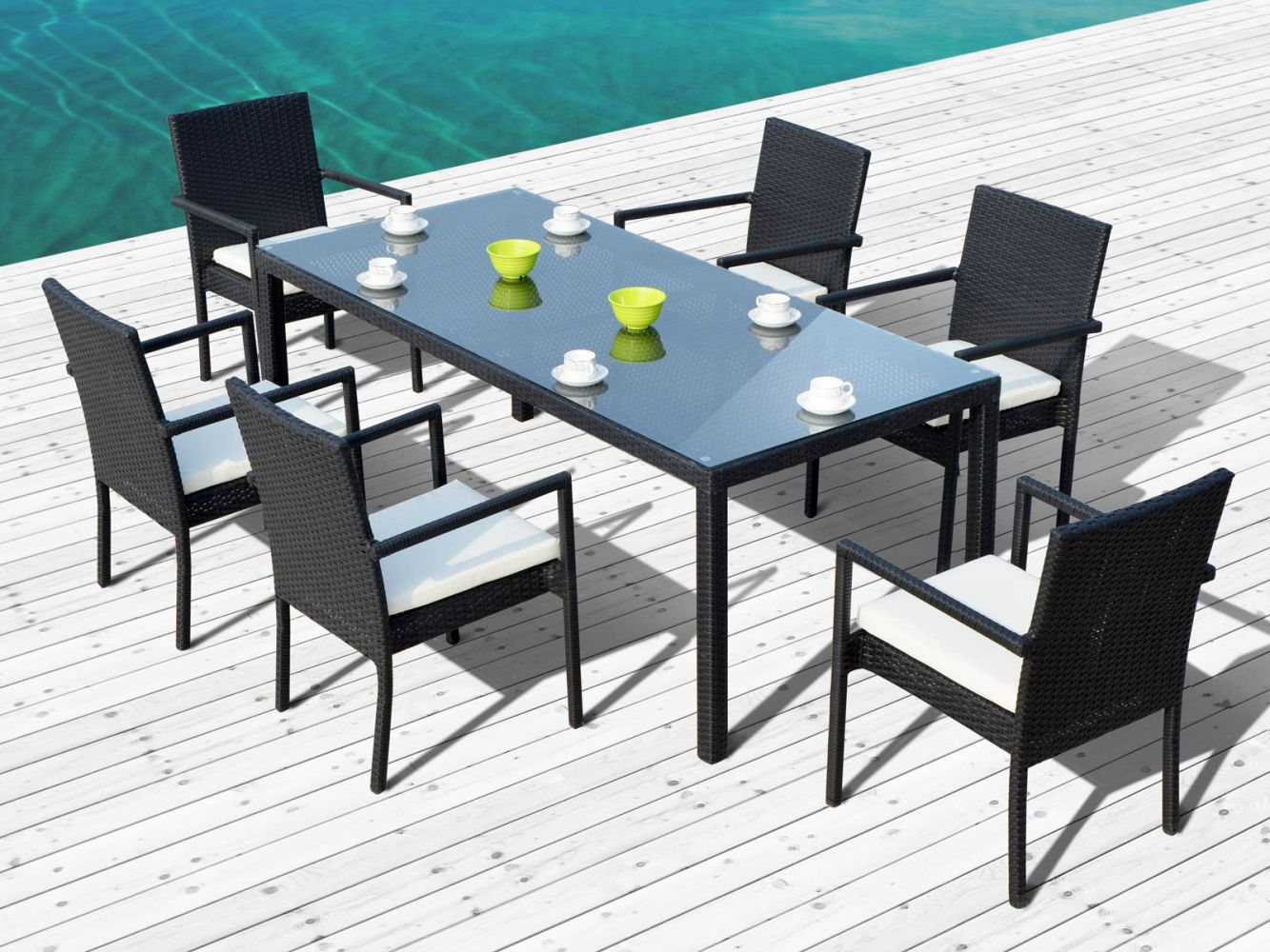table table de jardin contemporain meilleures id es pour la conception et l 39 ameublement du. Black Bedroom Furniture Sets. Home Design Ideas
