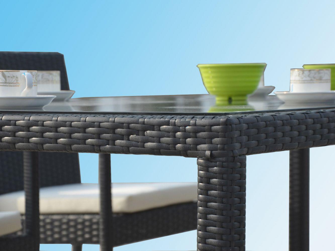 Ensemble table avec chaises de jardin en r sine noire atlas meuble et d coration marseille - Meubles asiatiques bordeaux ...