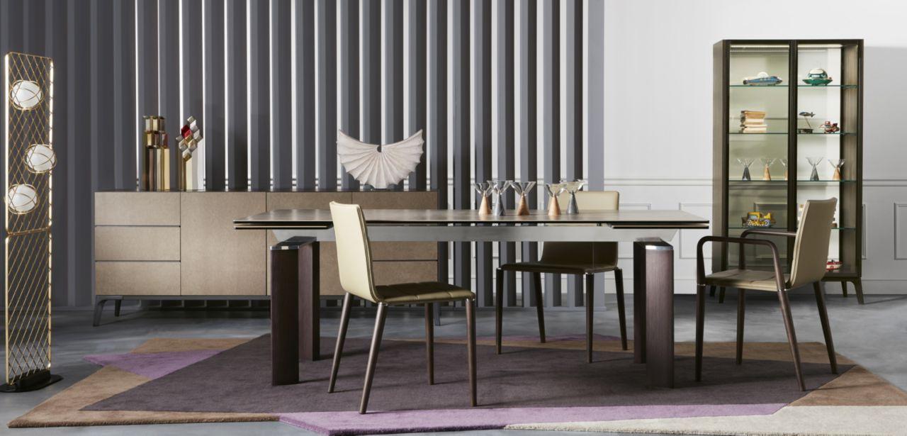 Grande table de repas Roche Bobois CHRONO WOOD - Meuble et ...