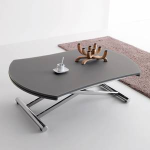 Table basse transformable en table ronde par cuir design - Table basse transformable en table a manger ...