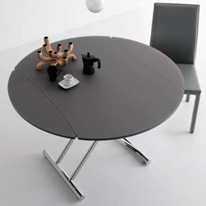 Table Basse Transformable En Table Ronde Par Cuir Design