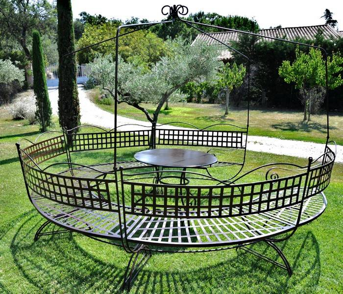 table de jardin fer forge. Black Bedroom Furniture Sets. Home Design Ideas