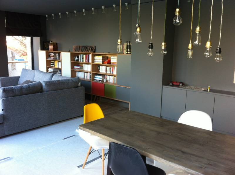 biblioth que sur mesure en m lamin et bois massif ch ne meuble et d coration marseille. Black Bedroom Furniture Sets. Home Design Ideas
