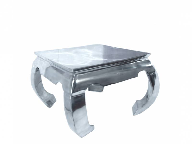 Table basse originale en aluminium style asiatique for Meuble asiatique contemporain