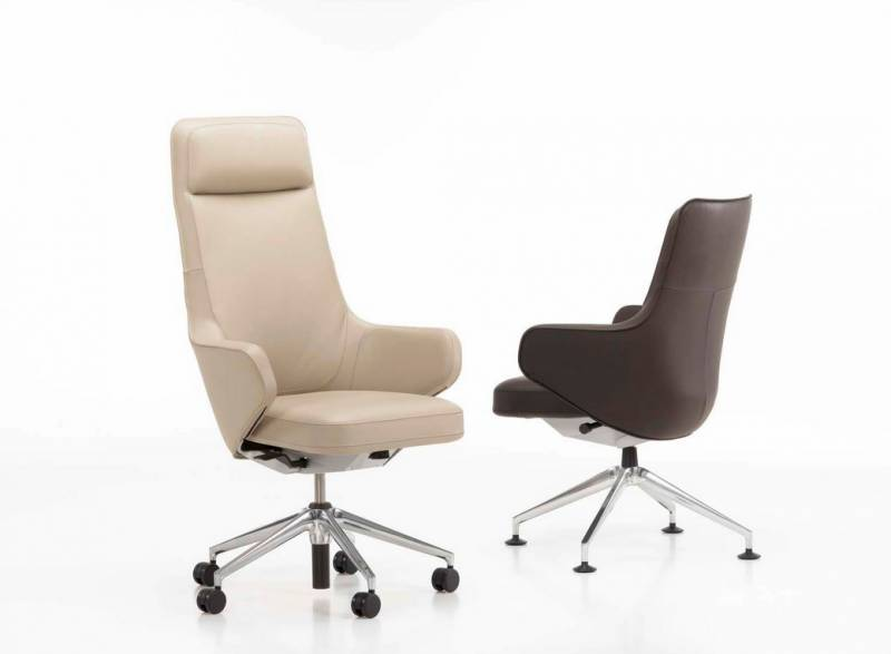 Fauteuil De Direction En Cuir SKAPE HIGHBACK Design Par Antonio