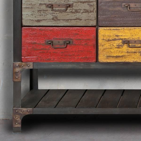 Commode tiroir design et tendance style industriel - Meuble industriel bordeaux ...