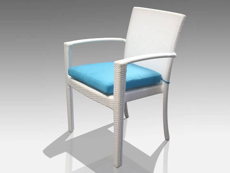 Chaise d 39 ext rieur pour le jardin en r sine blanc empilable garden green meuble et d coration - Meubles asiatiques bordeaux ...