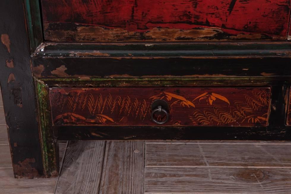 Meuble tv de style asiatique en bois ancien meuble et for Mobilier style chinois