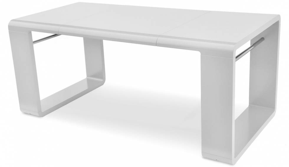 La table manger design extensible enola meuble et for Table ronde laquee blanche avec rallonge