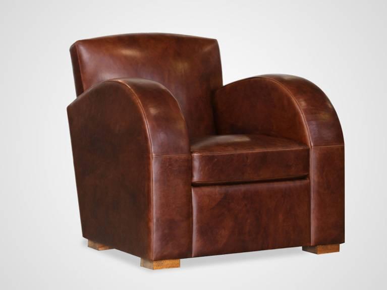fauteuil club en cuir fleur de basane meuble et d coration marseille mobilier design. Black Bedroom Furniture Sets. Home Design Ideas