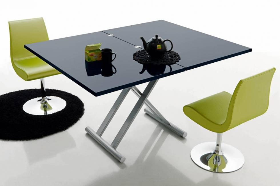 Table de repas design et r glable en hauteur meuble et - Table de salon reglable en hauteur ...
