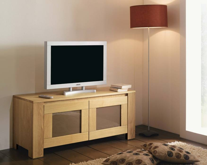 meuble tv en ch ne massif de style contemporain meuble et d coration marseille mobilier. Black Bedroom Furniture Sets. Home Design Ideas