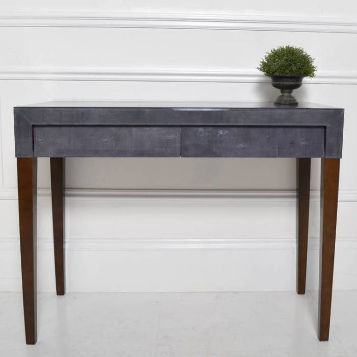 Petit meuble d co la console galuchat en grey meuble et for Meuble console design
