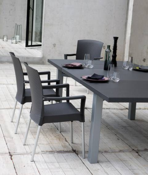 table de jardin lifestyle en pvc grosfilex ineo meuble et d coration marseille mobilier. Black Bedroom Furniture Sets. Home Design Ideas