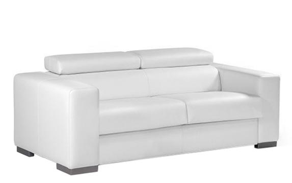canap convertible en cuir blanc torino meuble et d coration marseille mobilier design. Black Bedroom Furniture Sets. Home Design Ideas