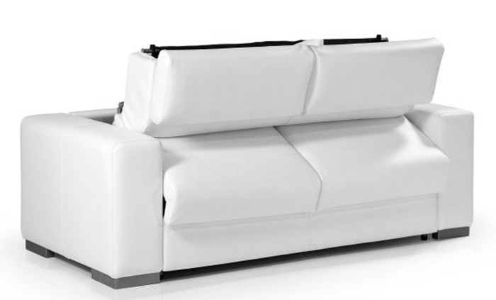 canap convertible en cuir blanc torino meuble et. Black Bedroom Furniture Sets. Home Design Ideas
