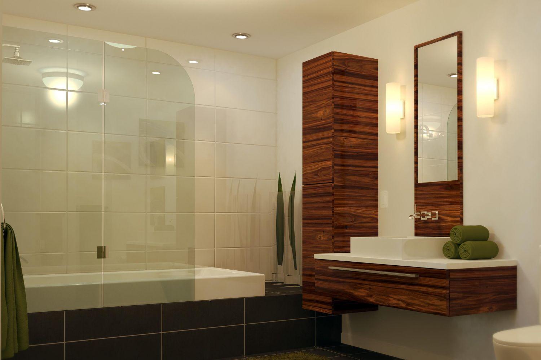 Salle de bain moderne en bois très nature - Meuble et décoration ...