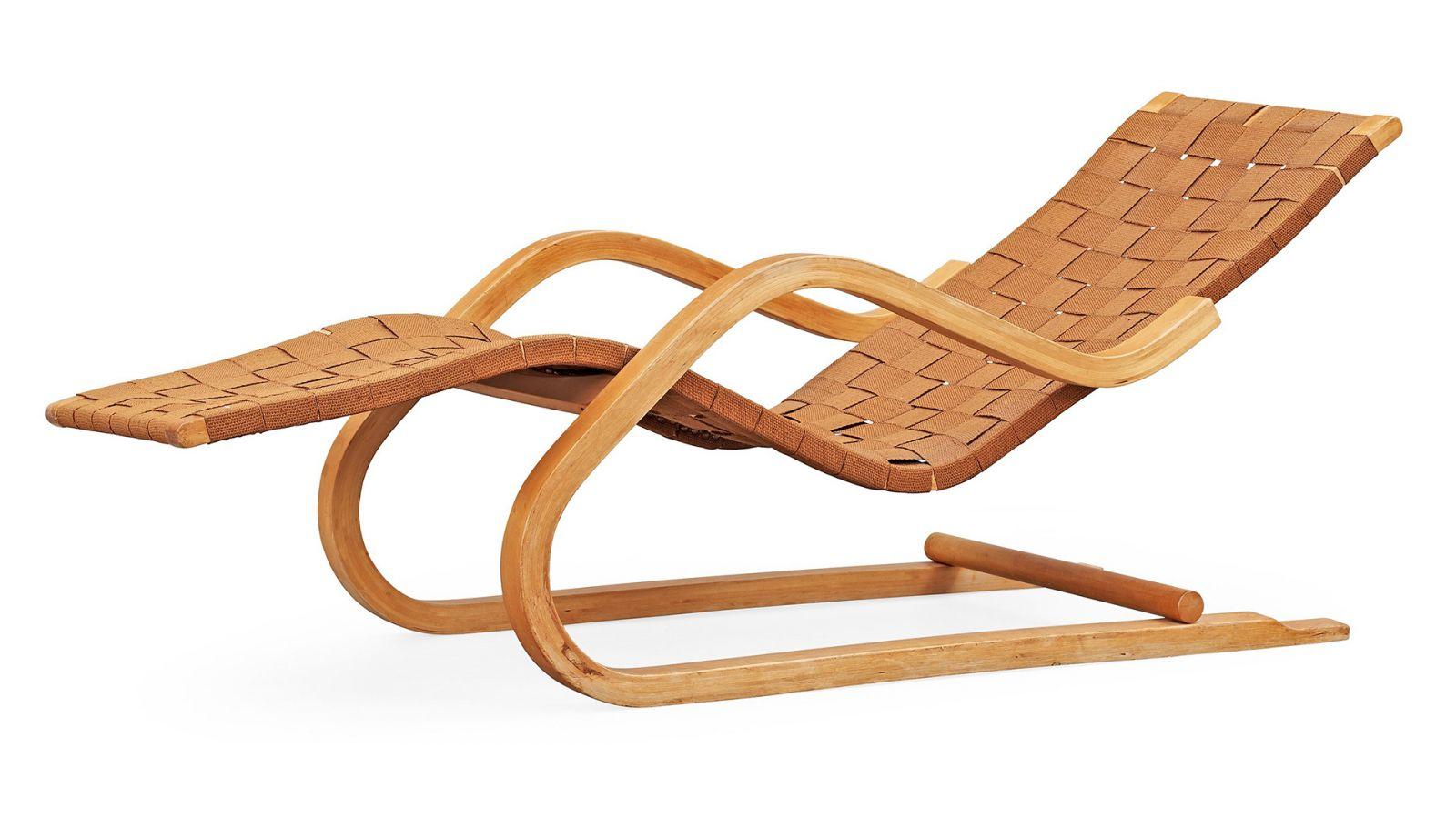 chaise longue design vintage en bois pour le jardin alvar aalto meuble et d coration marseille. Black Bedroom Furniture Sets. Home Design Ideas