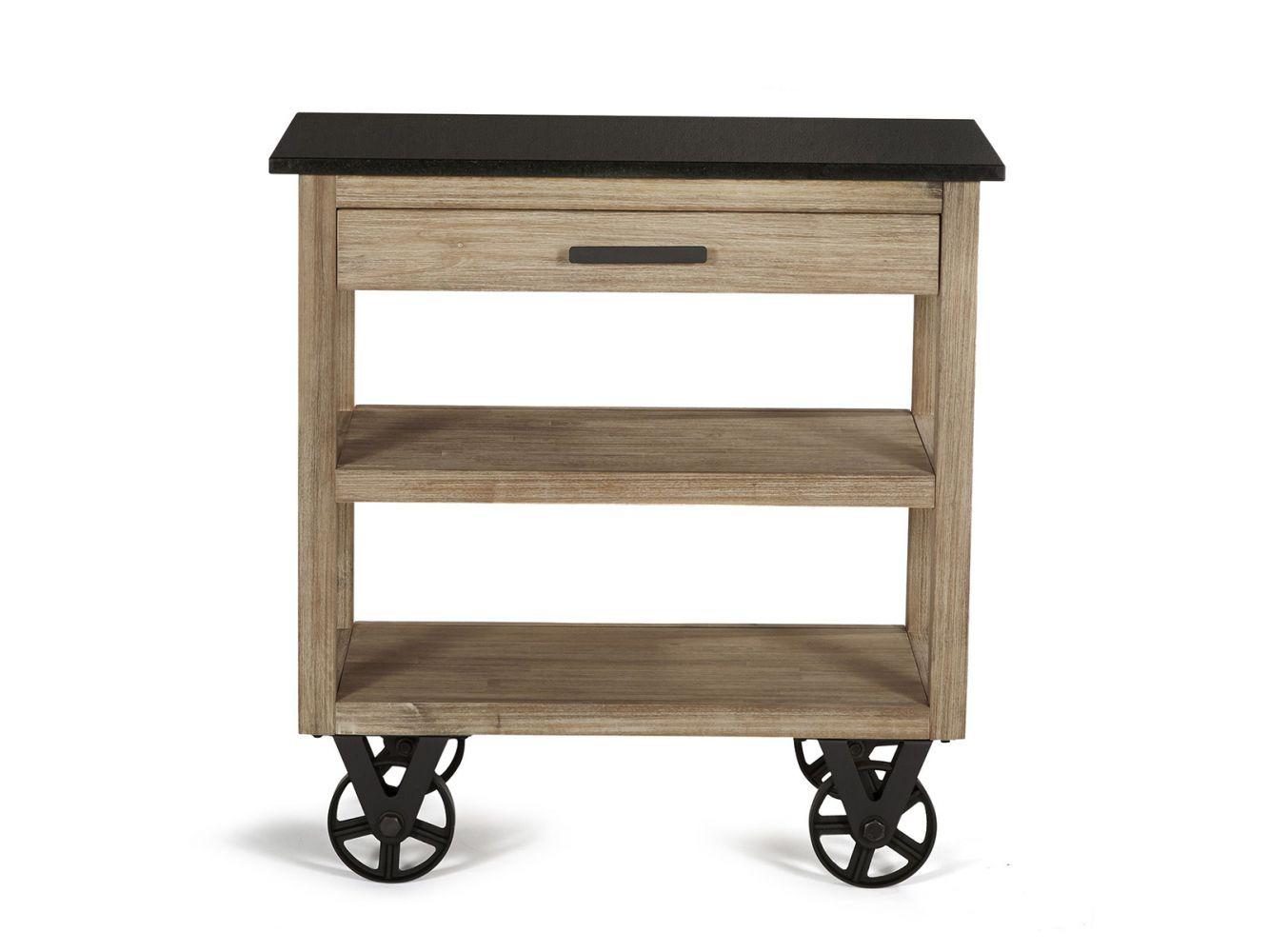 desserte de cuisine sur roulettes design usine et bois massif meuble et d coration marseille. Black Bedroom Furniture Sets. Home Design Ideas