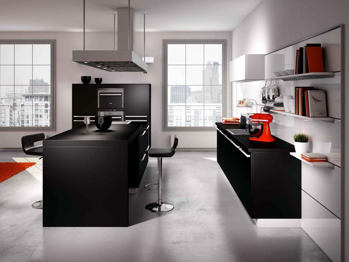 Cuisine style loft schmidtt avec de nombreux rangements meuble et d coration marseille for Mobilier cuisine design