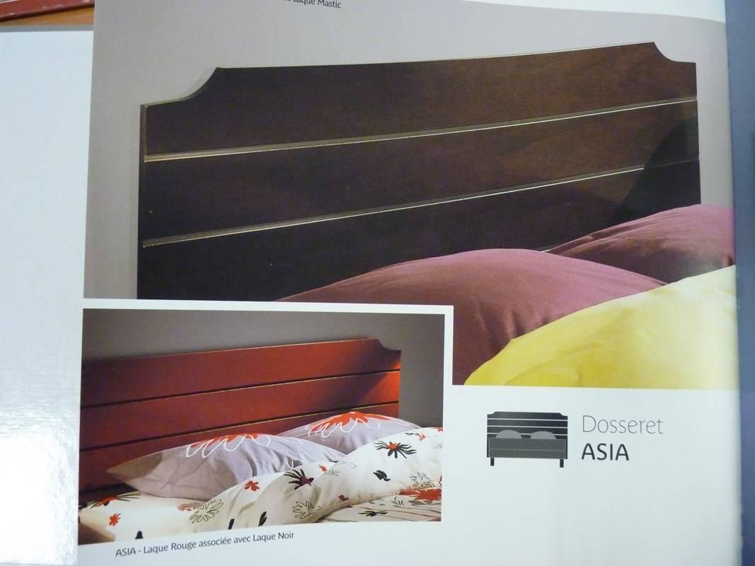 T te de lit teintes bois laques couleurs la maison de for Maison de la literie la garde