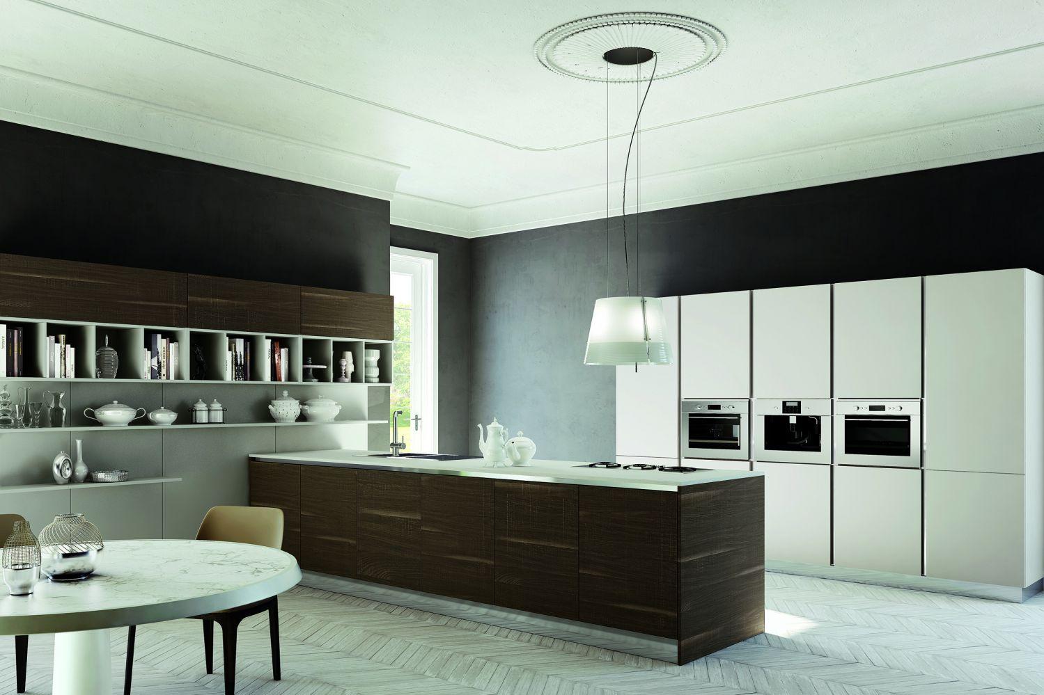 cuisine laqu e brillante aux lignes pur es design italien de zecchinon mod le jama meuble et. Black Bedroom Furniture Sets. Home Design Ideas
