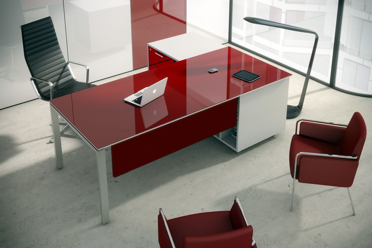Bureau de direction finition luxe couleur sur commande for Bureau direction