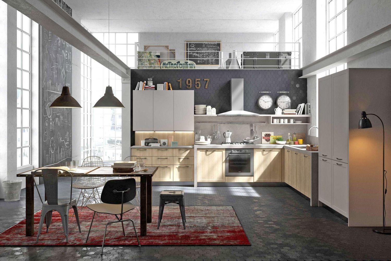 Cuisine style design industriel id al pour loft ou grande for Style contemporain architecture