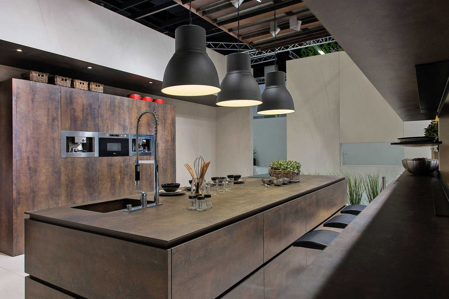 Cuisine style design industriel id al pour loft ou grande for Architecture et decoration