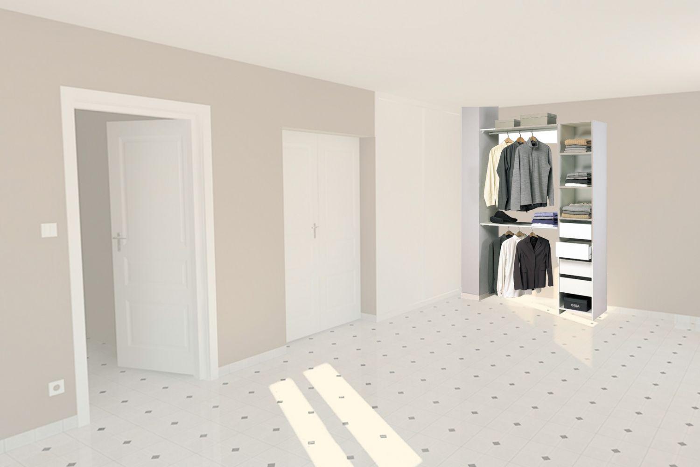 Un mini dressing pour une petite chambre kit placard for Meuble pour une chambre