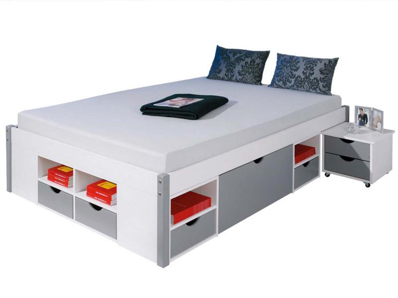 Lit design avec rangement de la marque atylia meuble et - Lit haut avec rangement ...