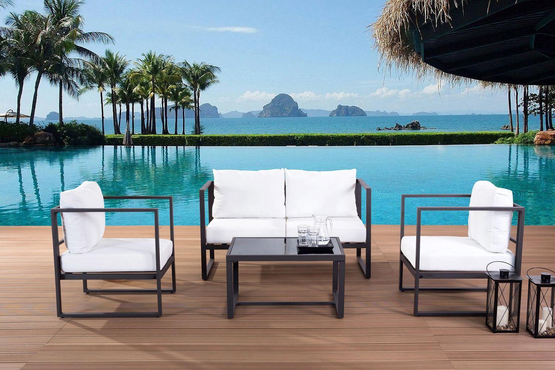 salon de jardin design contemporain en rotin meuble et. Black Bedroom Furniture Sets. Home Design Ideas