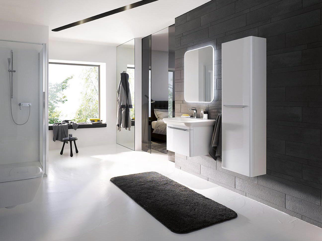 Meuble de salle de bain sobre et design myday de allia for Mobilier salle de bain design contemporain