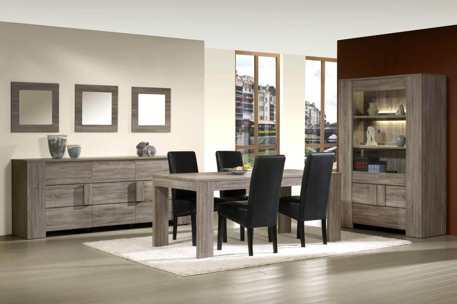 meubles de salle manger style contemporain moyenne. Black Bedroom Furniture Sets. Home Design Ideas