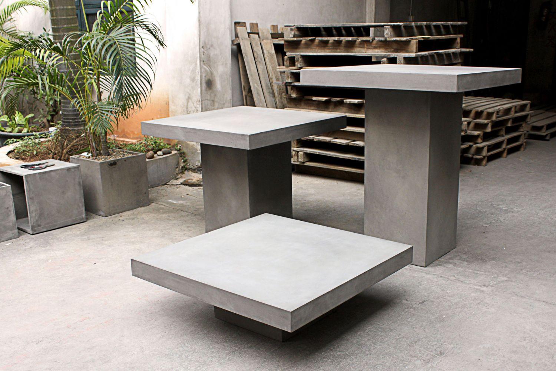 meuble de jardin en b ton cir tr s original meuble et. Black Bedroom Furniture Sets. Home Design Ideas