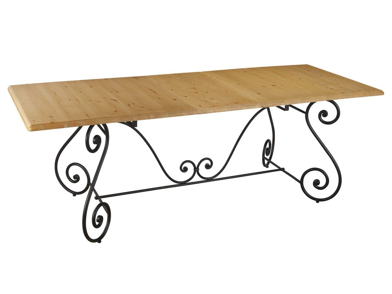 Table a manger fer forge et bois table salle a manger en for Table salle a manger bois et fer
