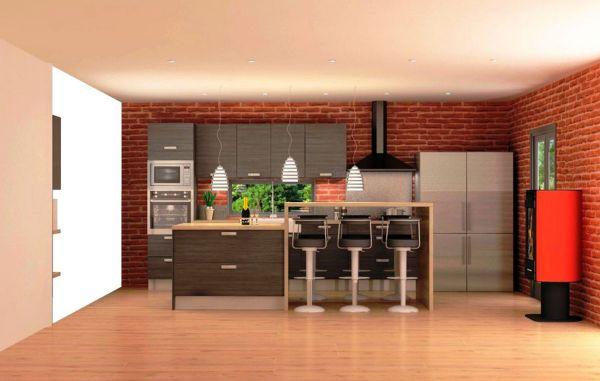 Meuble plan de travail alinea paca mobilier marseille for Cuisine americaine meuble