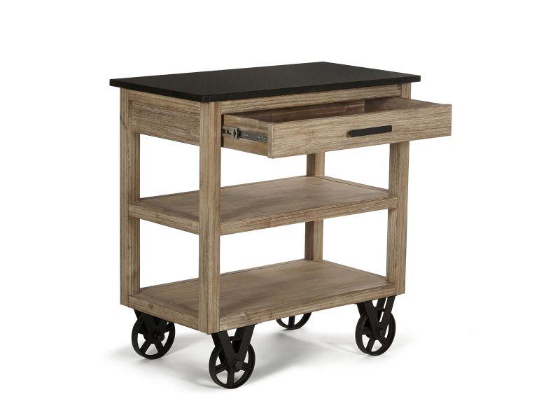desserte de cuisine sur roulettes design usine et bois. Black Bedroom Furniture Sets. Home Design Ideas