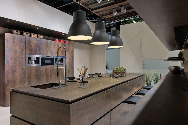 Cuisine style design industriel id al pour loft ou grande for Chambre style loft industriel